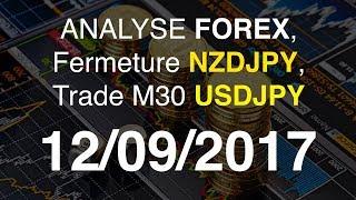 ANALYSE LIVE 12/09 : Tour Forex, Fermeture NZDJPY, Trade M30 USDJPY !!
