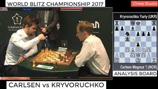 CARLSEN VS KRYVORUCHKO  WORLD BL TZ CHAMP ONSH P 2017