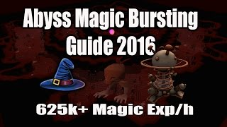 [Runescape 3] Abyss Magic Bursting Guide 2016: 625k+ exp/h with Oldak Coil