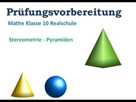 pyramide berechnungen mathe klasse 10 youtube. Black Bedroom Furniture Sets. Home Design Ideas