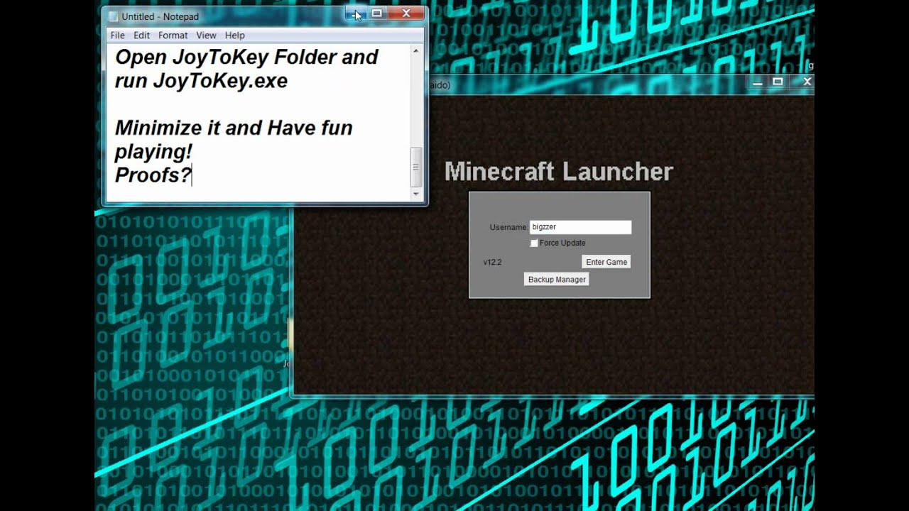 how to play minecraft with a controllert