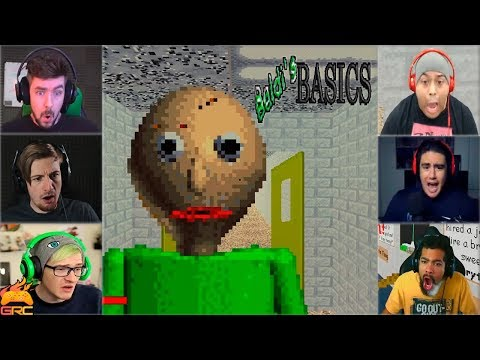 Gamers Reactions to Angry Baldi (JUMPSCARE) | Baldi's Basics