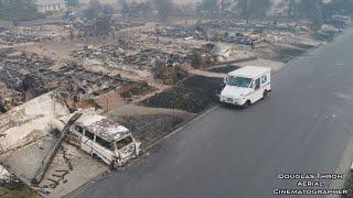 Postal Worker Still Delivers Mail Despite Flames That Leveled California Homes