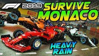SURVIVE MONACO IN HEAVY RAIN - F1 2019 Extreme Damage Game Mod