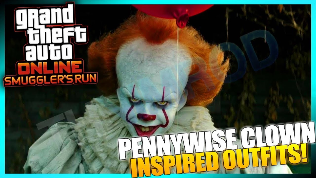 Gta Online Pennywise The Clown It Inspired Creepy Clown Outfits Part Gta Dlc Jpg 1280x720 Madea