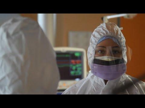 Видео из римского госпиталя, оборудованного для лечения пациентов с коронавирусом