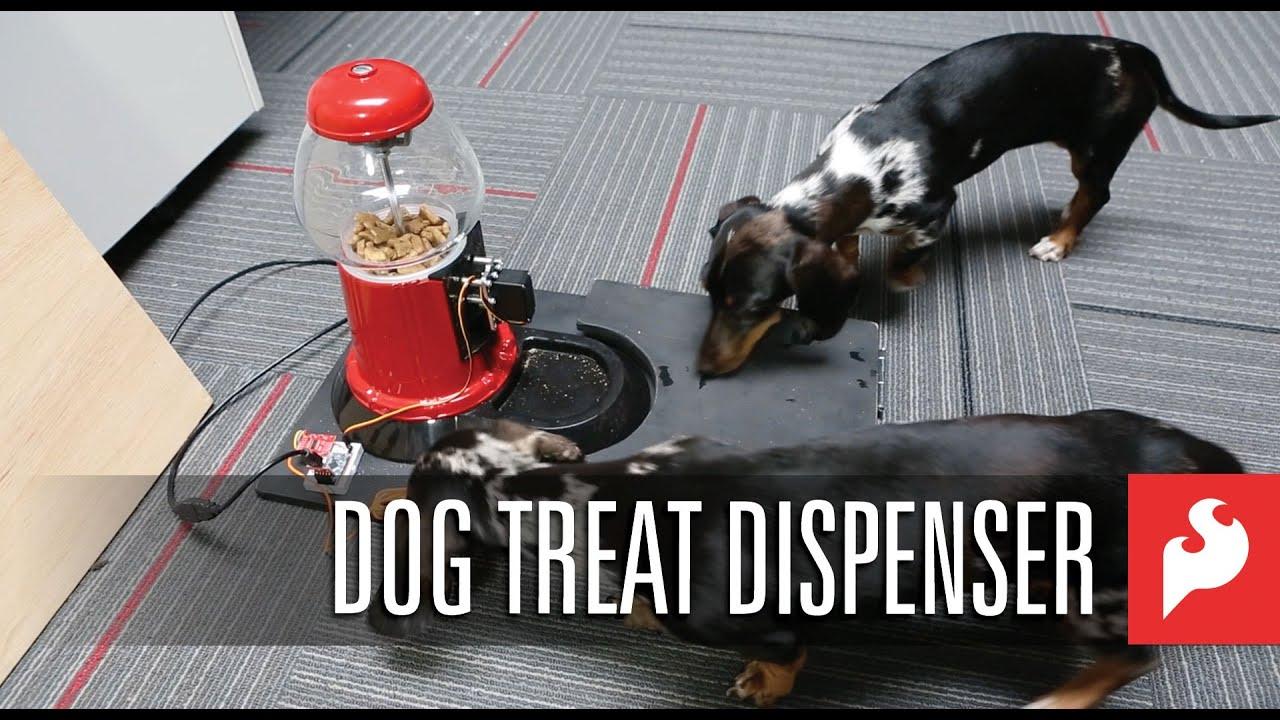 Dog Treat Dispenser >> SparkFun Dog Treat Dispenser! - YouTube