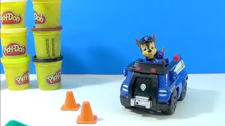 Unboxing Paw Patrol Chase's Cruiser Playdoh Breakfast