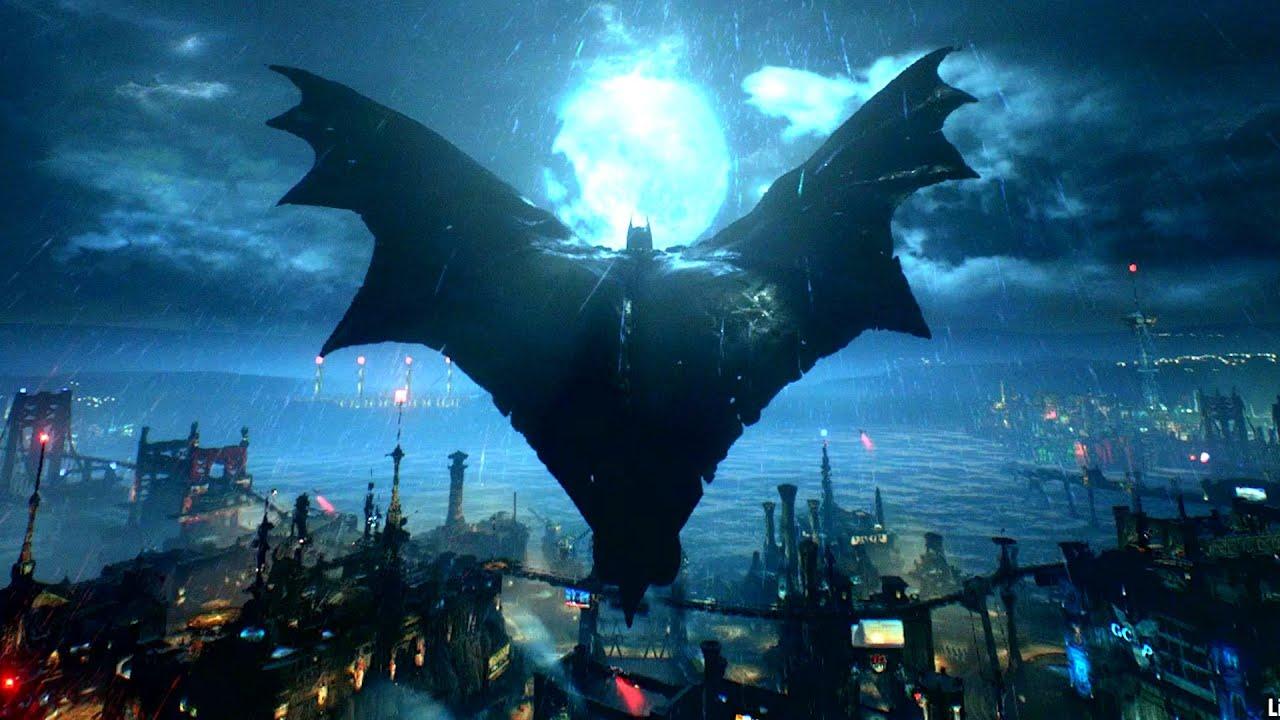 How To Make Anime Wallpaper Gliding Around Full City Off One Jump Batman Arkham