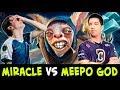 Miracle favorite hero vs w33 best hero — Anti-Mage vs Meepo