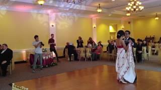 www.charliedjandlighting.com First Dance at Wedding Recep @ Lindley-Scott House in Azusa, California