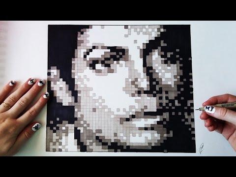 Amazing Handmade Pixel Art – Michael Jackson Portrait
