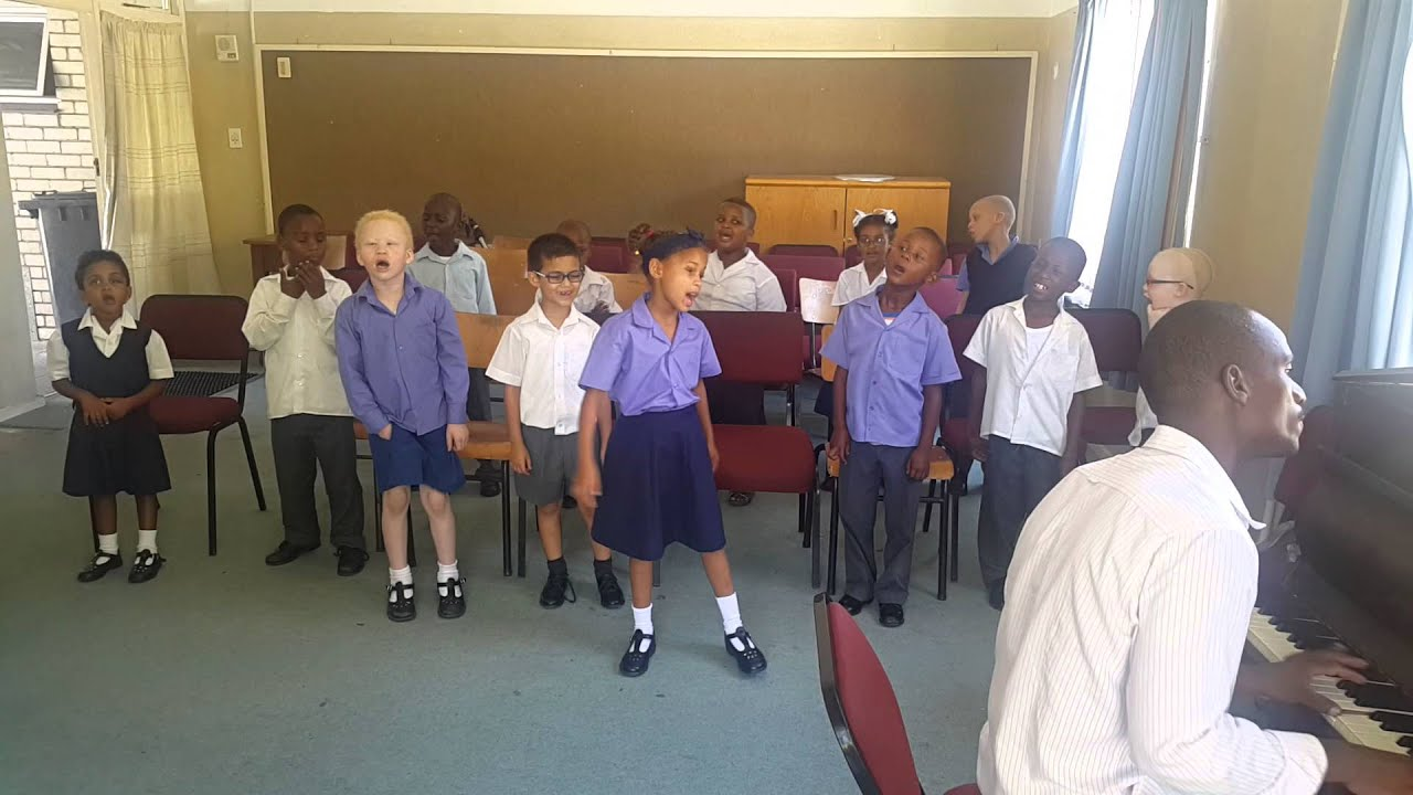 Athlone School for the Blind kids singing the South African