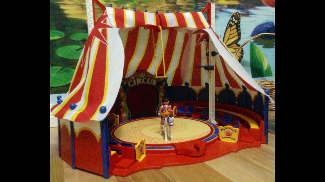 Playmobil Circus Ring 4230 and Circus Horse Act 4234 - YouTube