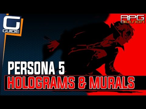 Persona 5 - Black Murals & Hologram Codes Puzzle Solutions (Futaba's Palace)