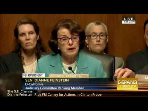 Dianne Feinstein Rips FBI Comey for Actions in Clinton Probe