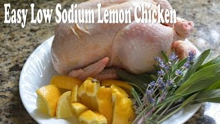 Low sodium/low salt slow cooker lemon chicken easy frugal recipe