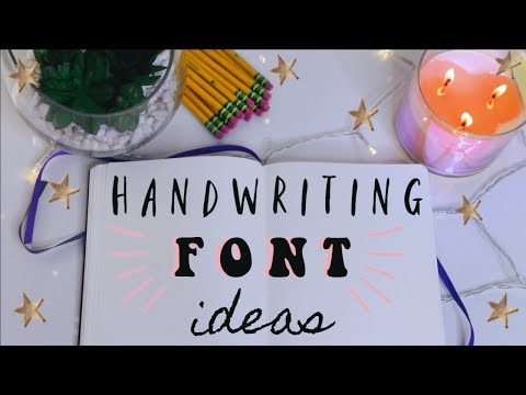 Handwriting Ideas + Note Taking Fonts | Tarrah Hodge