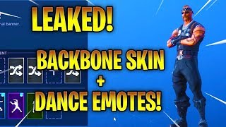 "*NEW* FORTNITE LEAKED ""BACKBONE"" SKIN + EMOTES!"