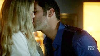 Lucifer 2x12 Opening Scene Lucifer Chloe Make out / Kiss   Season 2 Episode 12