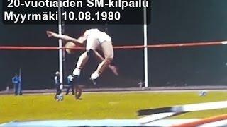 kaitafilmi (26/28) | SM Myyrmäki 10.8.80 | alle 20-v. miesten korkeushyppy