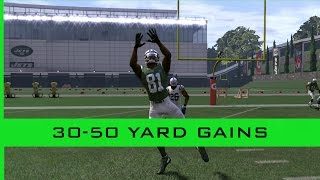 huge gains in the middle of the field 30 50 yards madden 17