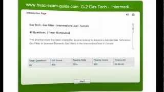 HVAC Exam Guide Practice - Gas Technician Test  G2 - Level Intermediate