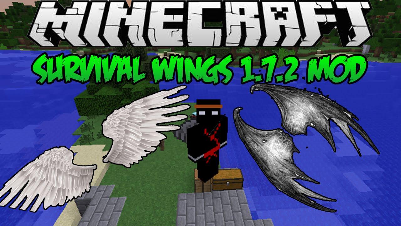 Мод на майнкрафт 1.7.10 на крылья ангела и демона