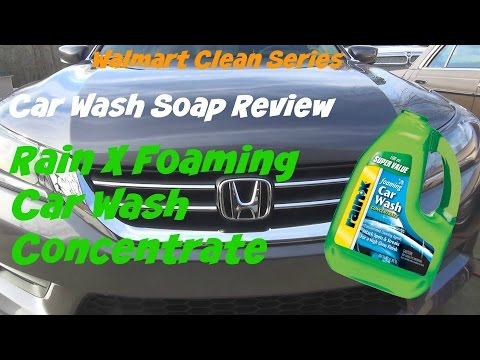 Walmart Clean Series review of Rain X Foaming Car Wash Concentrate car soap