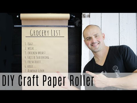 How to Make Craft Paper Memo Board for Kitchen or Office