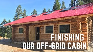 Building a 1500 sq.ft off-grid cabin: Finishing the interior
