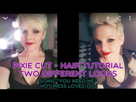 different ways to style your hair how to style your pixie cut two different ways 5616 | hqdefault