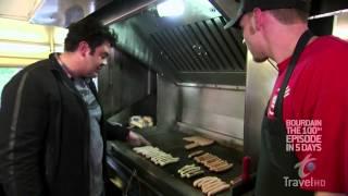 Man vs Food at Heids in LiverpooL