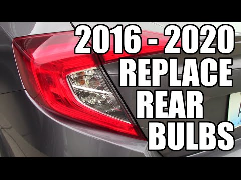 How to replace 16 – 20 Honda Civic Rear Tail Lights. EASY!!