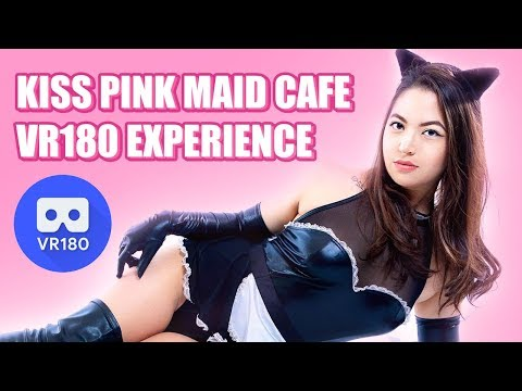 Kiss Pink Maid Cafe Daisuki Valentine's Party VR180 Experience