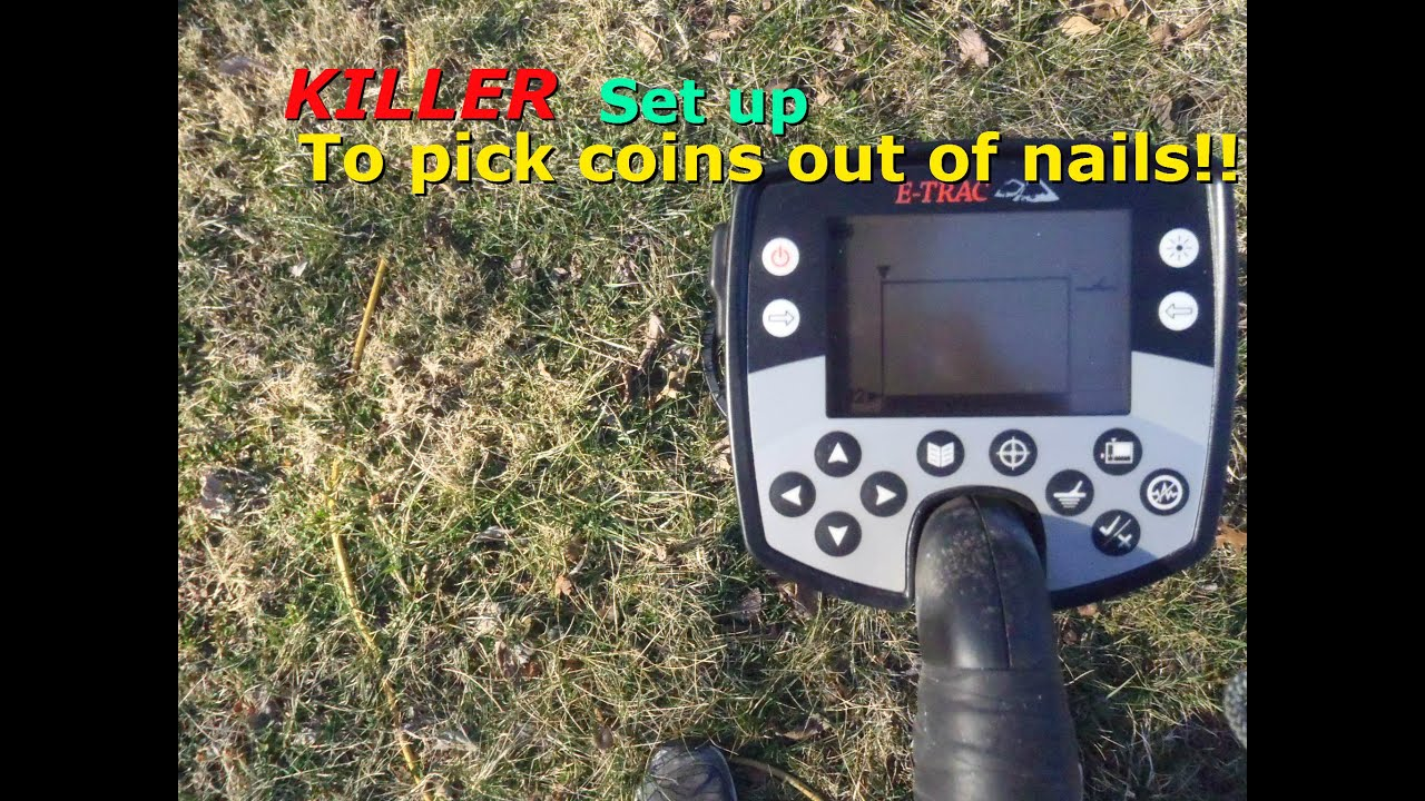 How to set up your Etrac to hunt in the iron  Metal Detecting