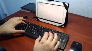 """ОБЗОР! Комплект """"НОУТБУК"""" беспроводная клавиатура + мышка."""