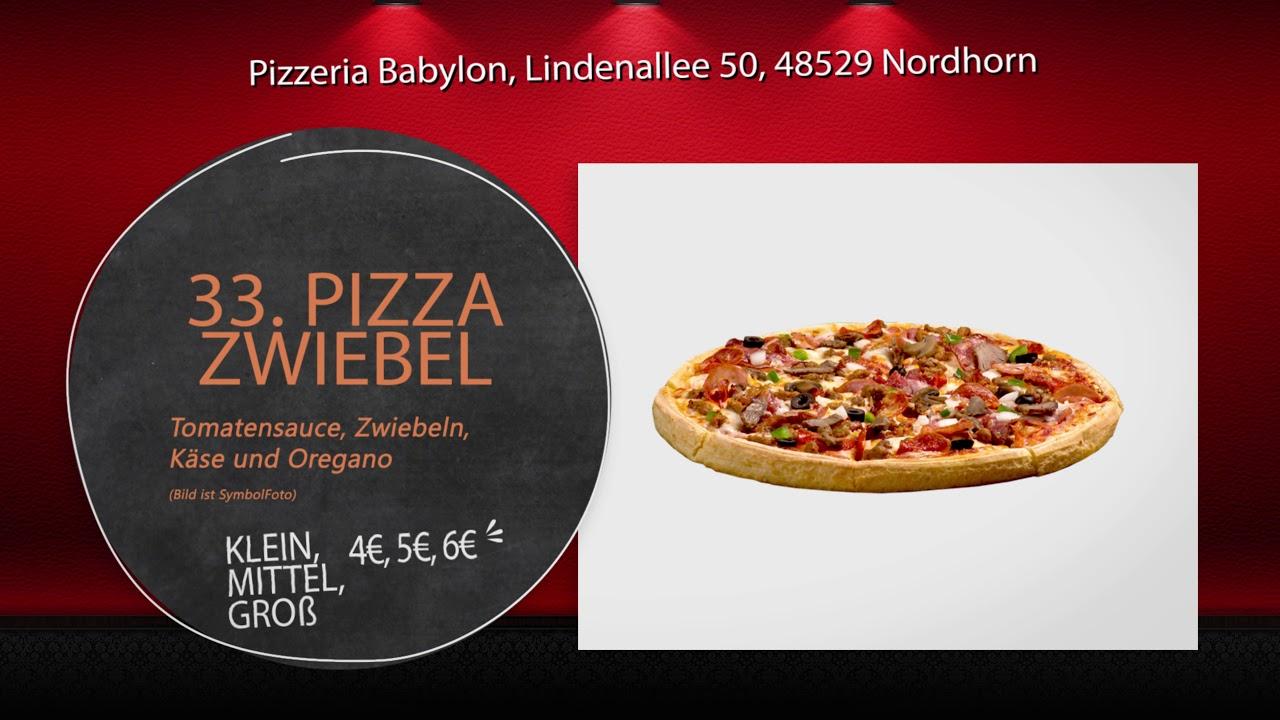 Pizzeria Babylon Nordhorn Speisekarte