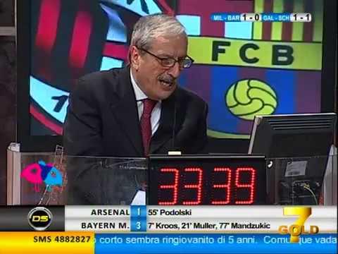 Sulley Muntari gol vs Barcelona narracion tv italiana