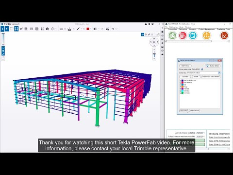 Production Tracking in Tekla PowerFab