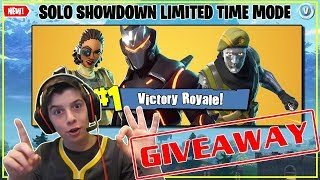 New Solo Showdown Game Mode Fortnite / Giveaway Today
