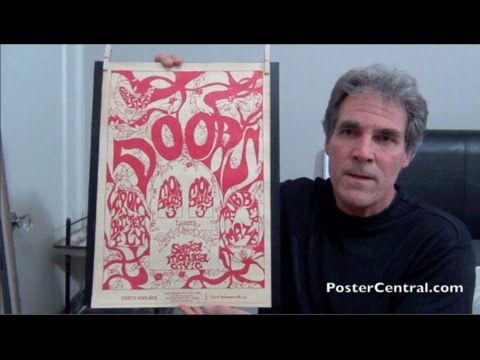 The Doors Concert Poster 1967 Santa Monica Civic w/Iron Butterfly