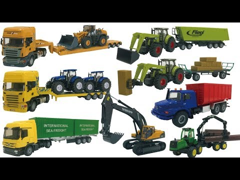 Excavator videos for children | Trucks for Kids | Construction trucks for children | Siku toy truck