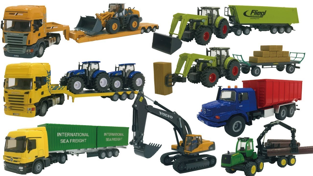 excavator videos for children trucks for kids construction trucks for children siku toy. Black Bedroom Furniture Sets. Home Design Ideas