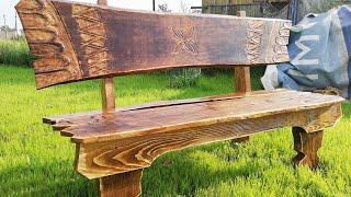 крутая самоделка из дерева.  скамейка своими руками