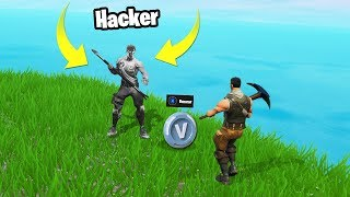 I DO ''HACKER'' FOR A DAY and TROLLEO PEOPLE😂 'Very Funny' - Fortnite Battle Royale