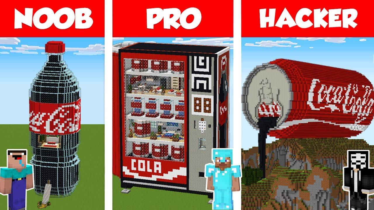 Download Minecraft NOOB vs PRO vs HACKER: COLA HOUSE BUILD CHALLENGE in Minecraft / Animation