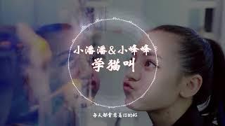 【抖音神曲】 小潘潘 & 小峰峰  -《学猫叫》 动态歌词版本 【想要变成你的猫,赖在你怀里睡着...】