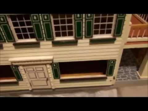 1950 S Fao Schwarz Dollhouse With Furniture Youtube