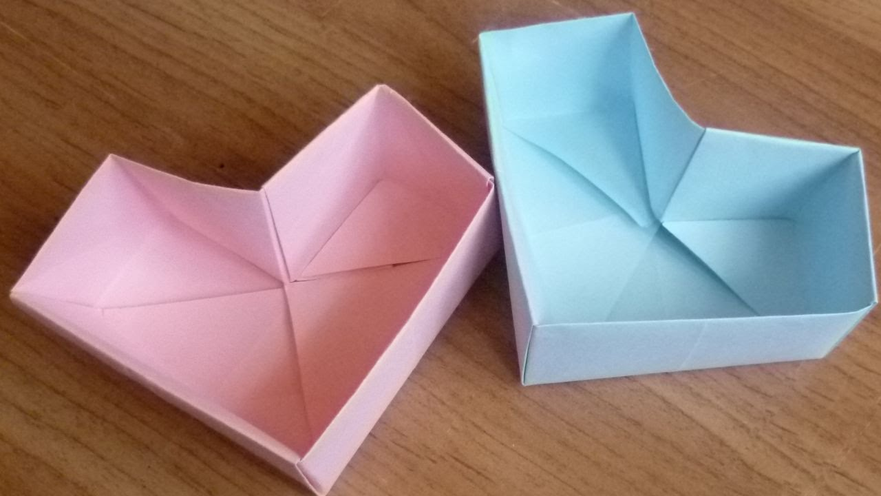 how to make a cute origami box heart diy crafts tutorial